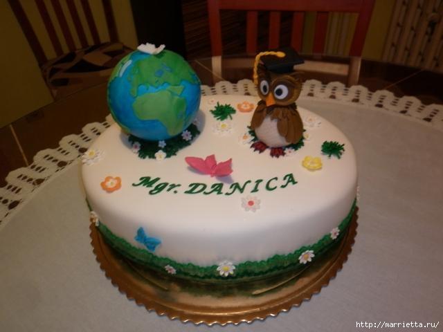 УЧЕНАЯ СОВА из марципана для детского торта. Фото мастер-класс (28) (640x480, 112Kb)