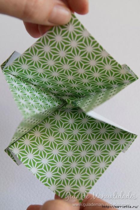 Как сложить красивый бант из бумаги в технике оригами (12) (466x700, 242Kb)