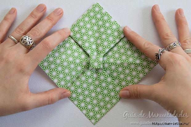 Как сложить красивый бант из бумаги в технике оригами (13) (620x413, 206Kb)