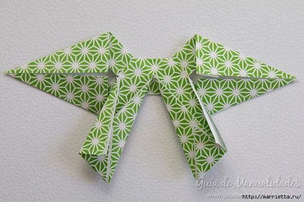Как сложить красивый бант из бумаги в технике оригами (26) (620x413, 175Kb)