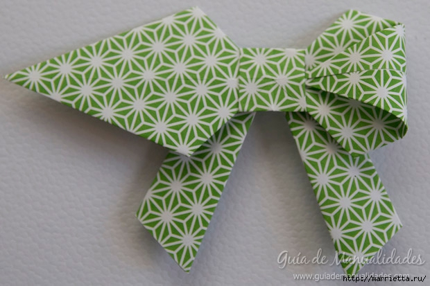Как сложить красивый бант из бумаги в технике оригами (28) (620x413, 167Kb)