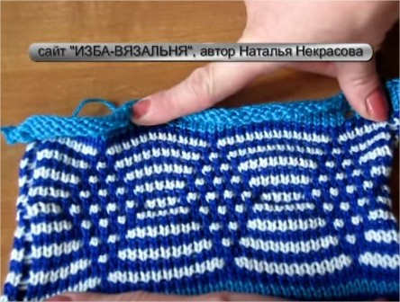 12 образец Фанговый рисунок РОМБЫ httpizba-vyazalinya.ru - YouTube - Google Chrome (444x336, 182Kb)