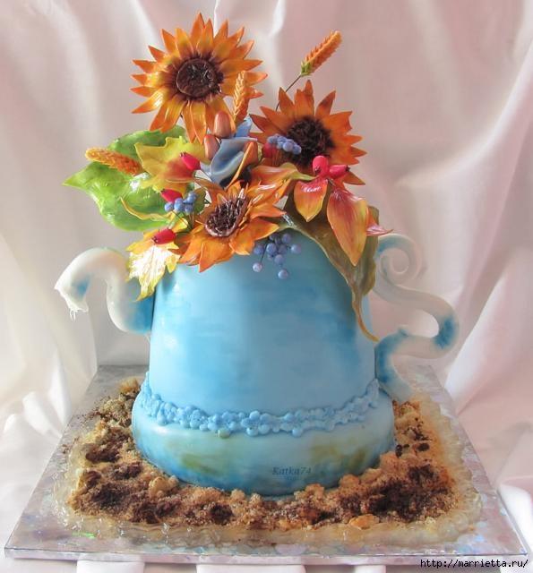 Осенние марципановые 3D торты. Идеи (1) (595x640, 165Kb)