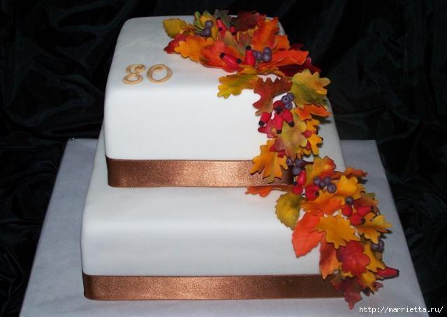 Осенние марципановые 3D торты. Идеи (6) (640x454, 108Kb)