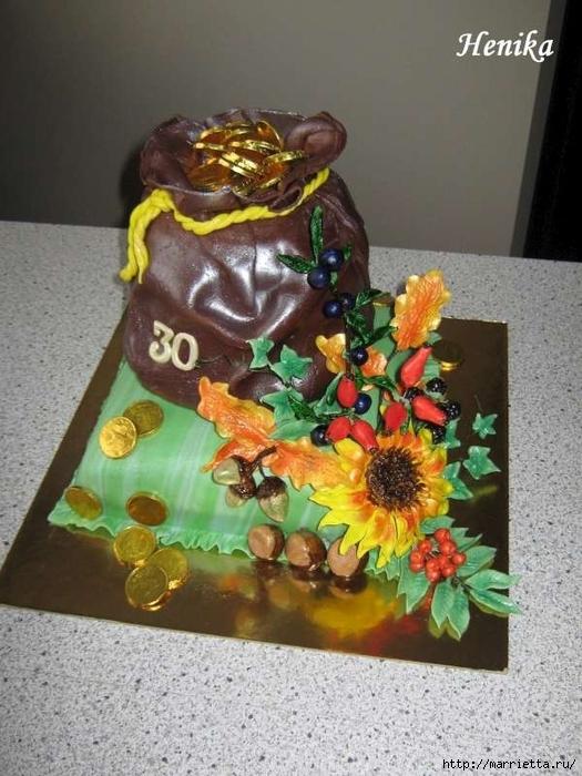 Осенние марципановые 3D торты. Идеи (8) (525x700, 267Kb)