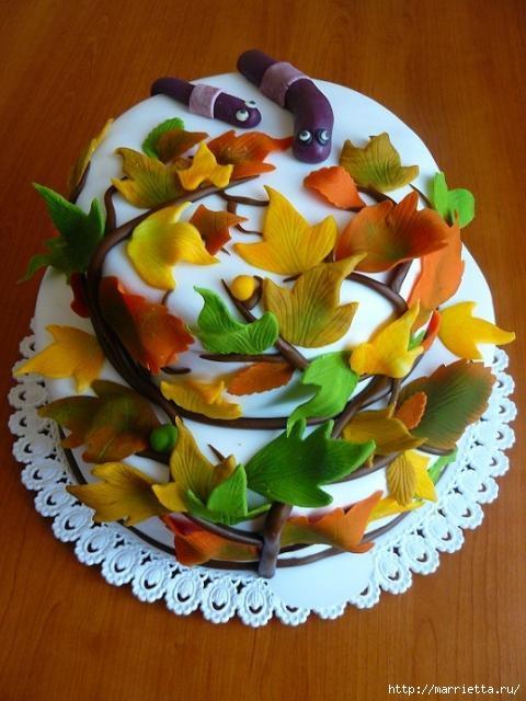 Осенние марципановые 3D торты. Идеи (13) (480x640, 168Kb)