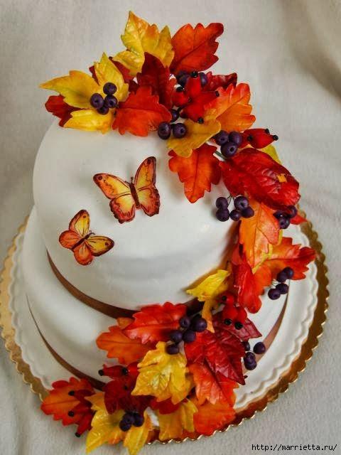 Осенние марципановые 3D торты. Идеи (15) (480x640, 163Kb)