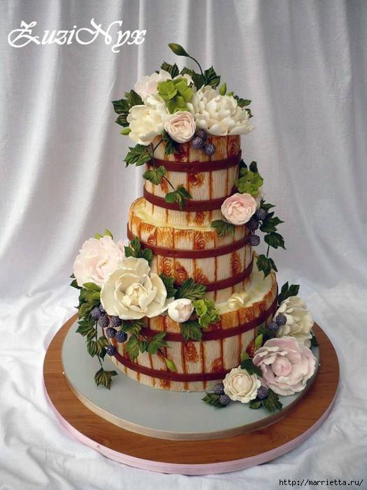 Осенние марципановые 3D торты. Идеи (18) (525x700, 258Kb)