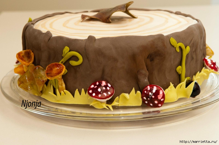 Осенние марципановые 3D торты. Идеи (19) (700x464, 220Kb)