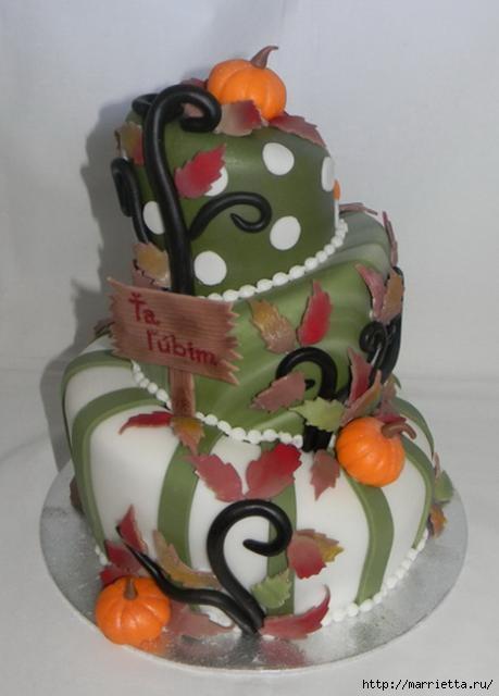 Осенние марципановые 3D торты. Идеи (27) (459x640, 96Kb)