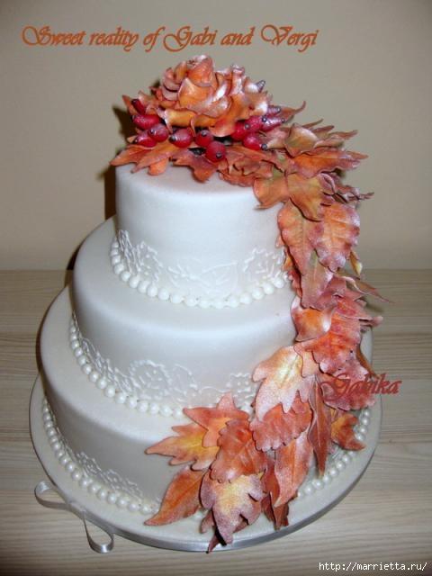 Осенние марципановые 3D торты. Идеи (30) (480x640, 126Kb)