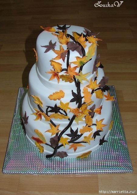 Осенние марципановые 3D торты. Идеи (34) (451x640, 170Kb)