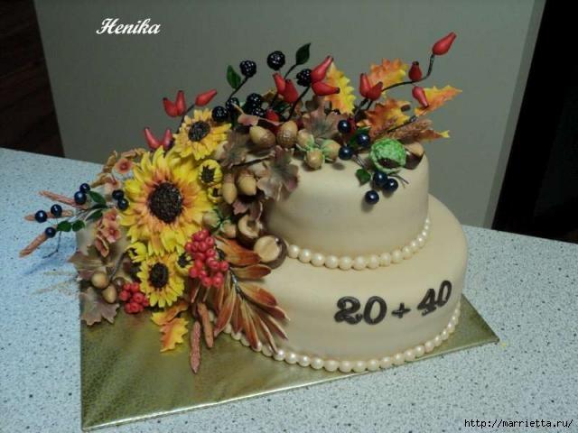 Осенние марципановые 3D торты. Идеи (36) (640x480, 138Kb)