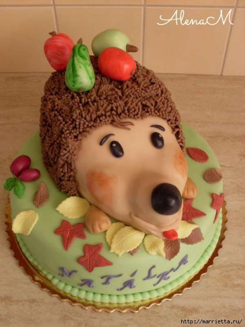 Осенние марципановые 3D торты. Идеи (38) (480x640, 129Kb)