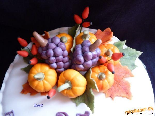 Осенние марципановые 3D торты. Идеи (40) (600x450, 114Kb)