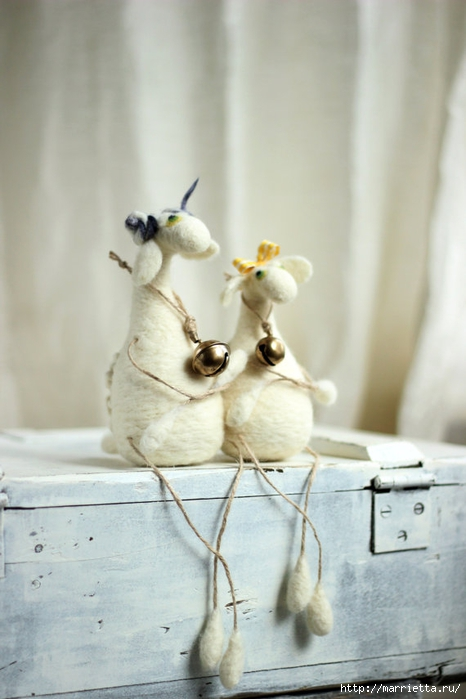 Романтичная овца и другие игрушки в технике валяние (9) (466x700, 180Kb)