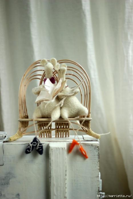 Романтичная овца и другие игрушки в технике валяние (28) (466x700, 184Kb)
