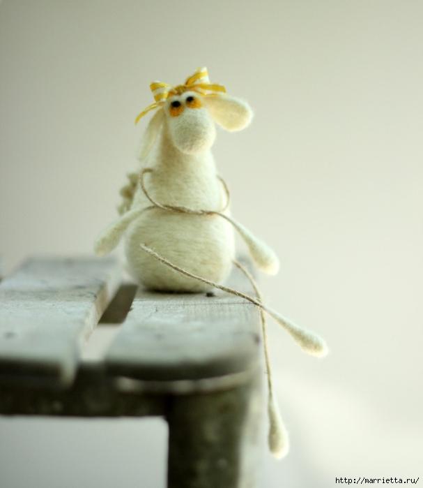 Романтичная овца и другие игрушки в технике валяние (46) (607x700, 195Kb)