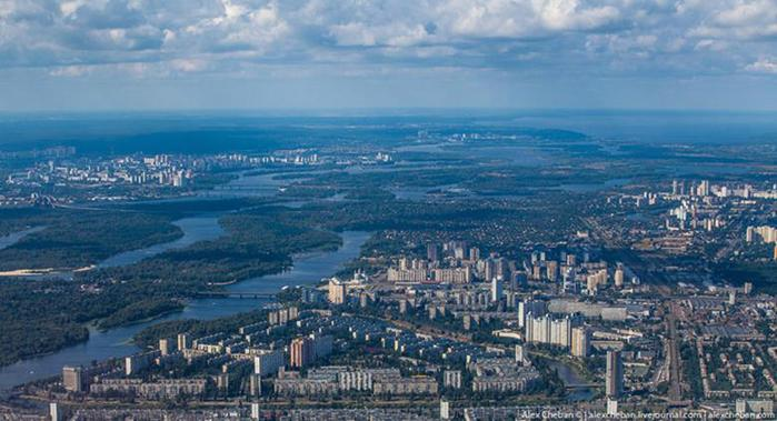 Красивые фотографии Киева с высоты птичьего полета