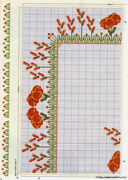 Схема вышивки крестом для скатерти (4) (500x700, 353Kb)