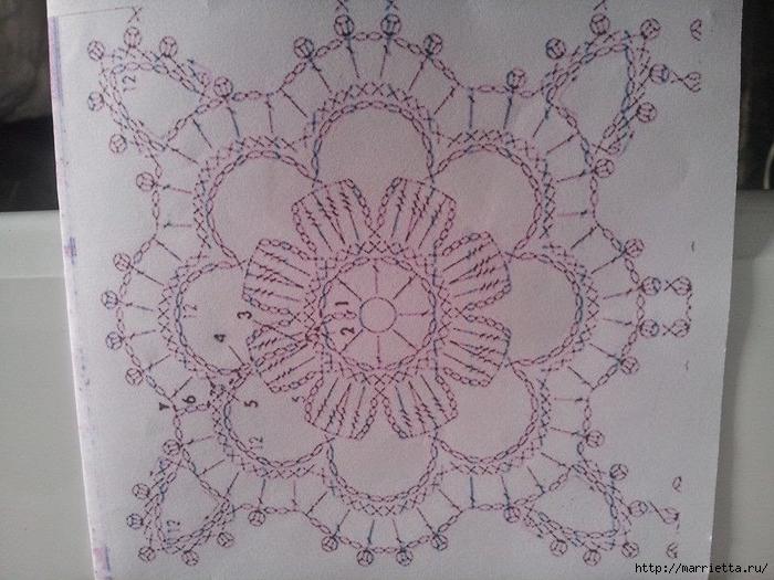 Золотой жакет-накидка для вечернего платья. Вязание крючком (6) (700x525, 288Kb)