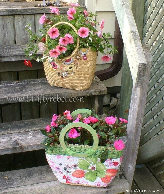 Декоративное кашпо для цветов из сумки (7) (540x640, 291Kb)