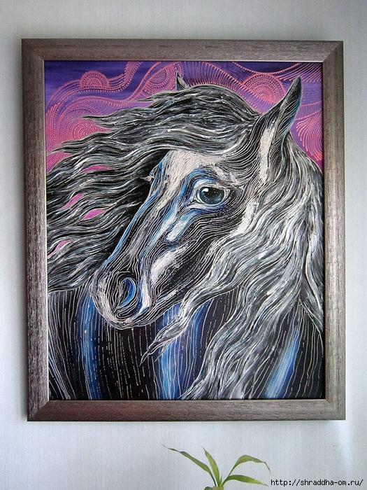 Лошадь, автор Shraddha (15) (525x700, 401Kb)