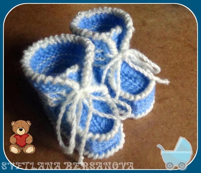 Вязание спицами пинетки видио
