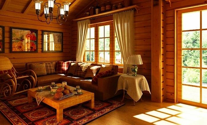 Деревянный дом интерьер внутри фото своими руками