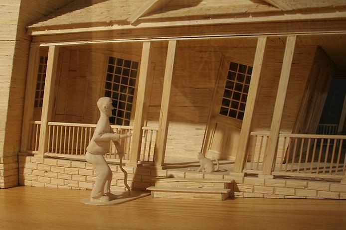 3. Изогнутый Человек рядом с таким же Изогнутым Домом (694x462, 222Kb)