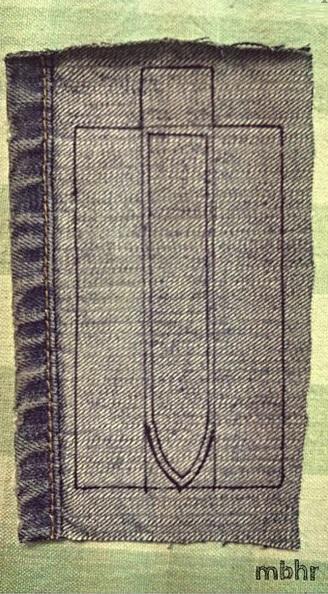 Ремешок для наручных часов из старых джинсов. Мастер-класс (4) (328x594, 241Kb)
