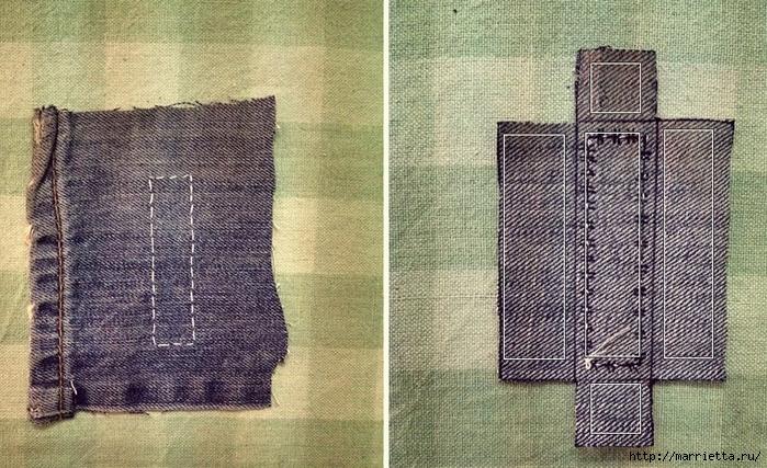 Ремешок для наручных часов из старых джинсов. Мастер-класс (8) (700x427, 336Kb)