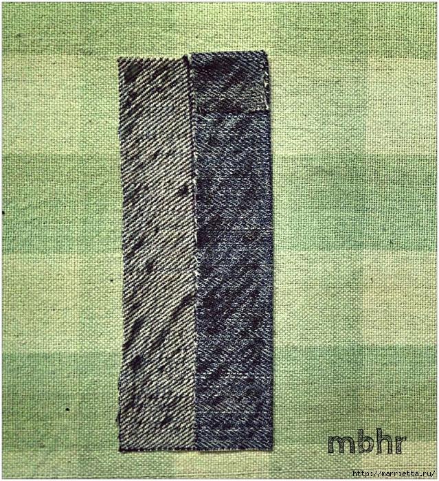 Ремешок для наручных часов из старых джинсов. Мастер-класс (16) (639x700, 559Kb)