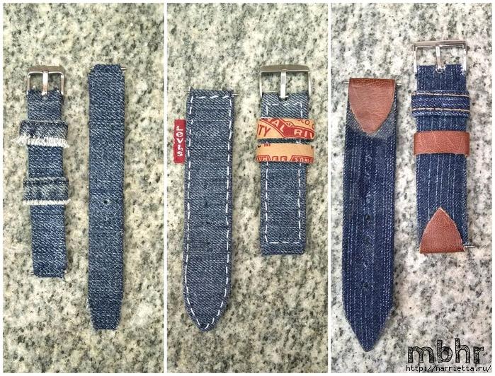 Ремешок для наручных часов из старых джинсов. Мастер-класс (17) (700x532, 431Kb)