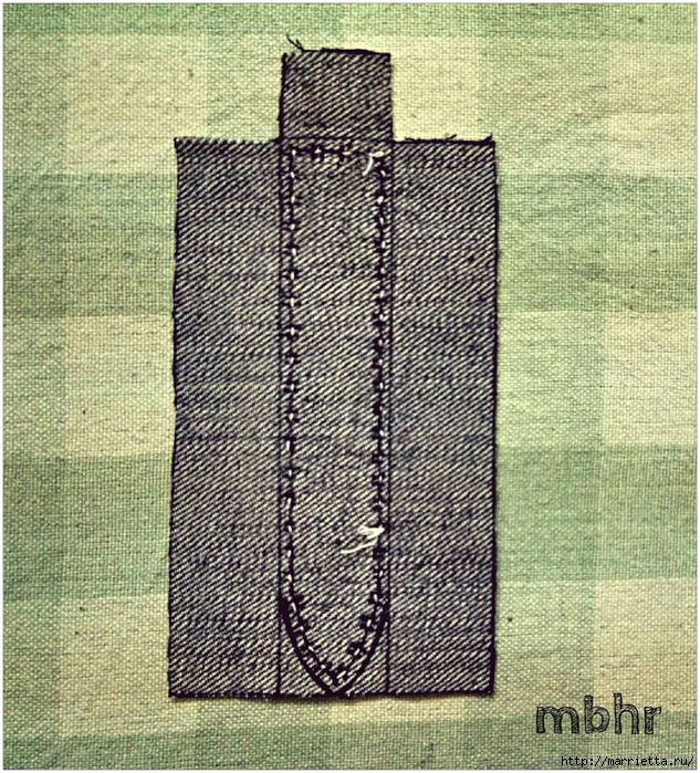 Ремешок для наручных часов из старых джинсов. Мастер-класс (20) (633x700, 507Kb)