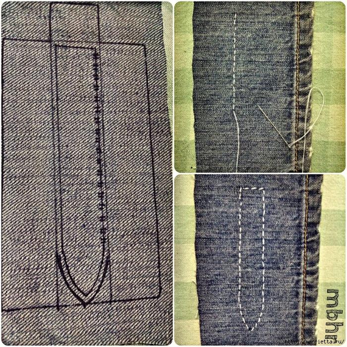 Ремешок для наручных часов из старых джинсов. Мастер-класс (21) (700x700, 646Kb)