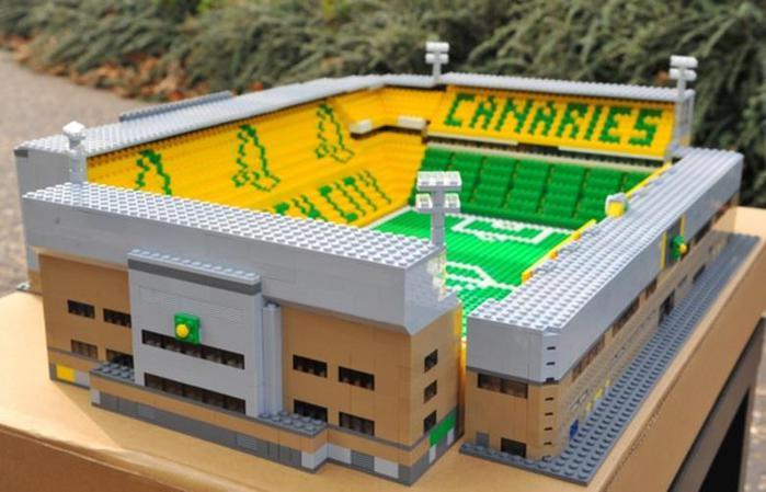 Болельщик сделал копию стадиона из Lego. Фотографии