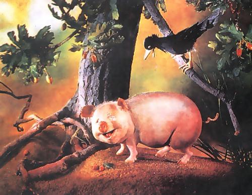 Свинья под дубом аналез
