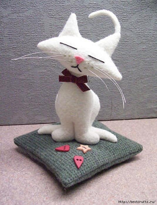 Шьем очаровательных кошек по выкройке (1) (535x700, 265Kb)