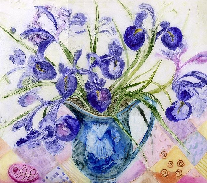patchwrok-irises. Лоскутные Ирисы (700x621, 538Kb)