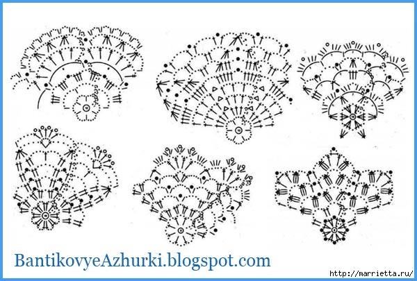 Схемы СНЕЖИНОК крючком (26) (600x405, 154Kb)