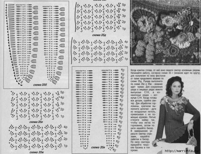 Фриформ. Пуловер ЦАРИЦА ЛЕСА от Синюковой Елены (2) (700x535, 312Kb)