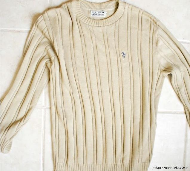 Стильная идея переделки пуловера (2) (636x572, 191Kb)