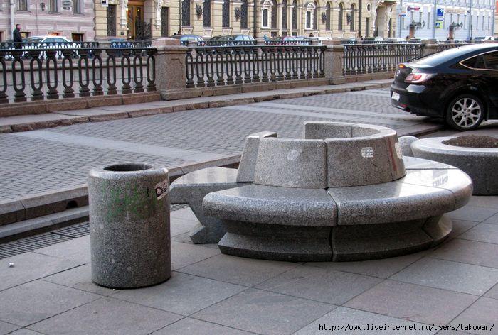 Санкт-Петербург. Гранитные скамейки на канале Грибоедова.  /1413032_IMG_0263 (700x472, 197Kb)