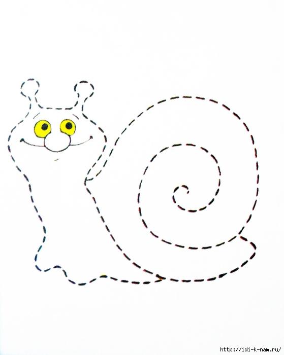 Картинки улитка раскраска для детей