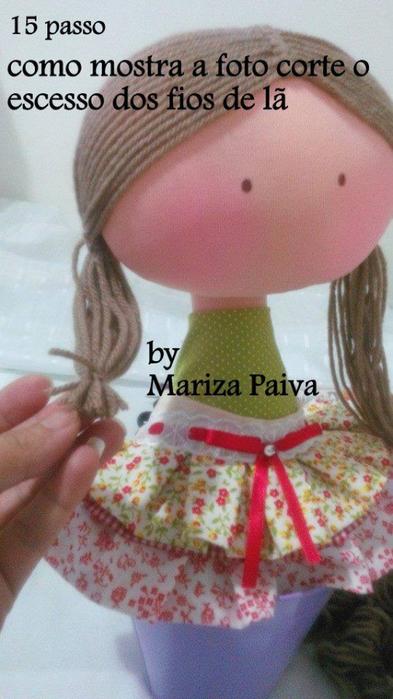 Красивая прическа с кудряшками для куклы. Мастер-класс (10) (393x700, 305Kb)