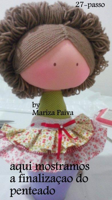 Красивая прическа с кудряшками для куклы. Мастер-класс (17) (393x700, 312Kb)