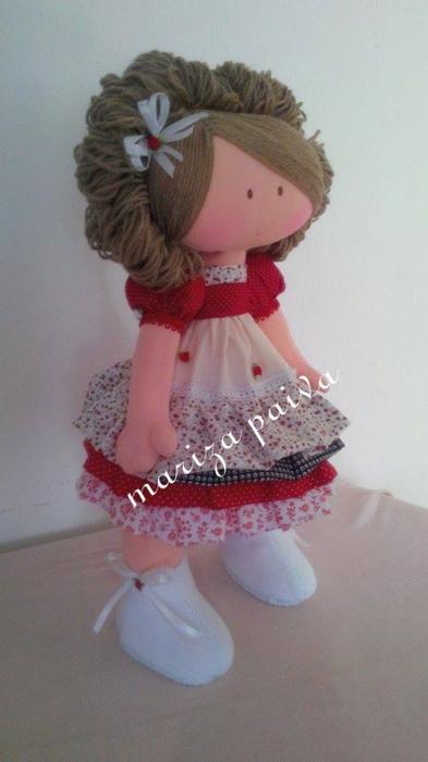 Красивая прическа с кудряшками для куклы. Мастер-класс (21) (393x700, 226Kb)