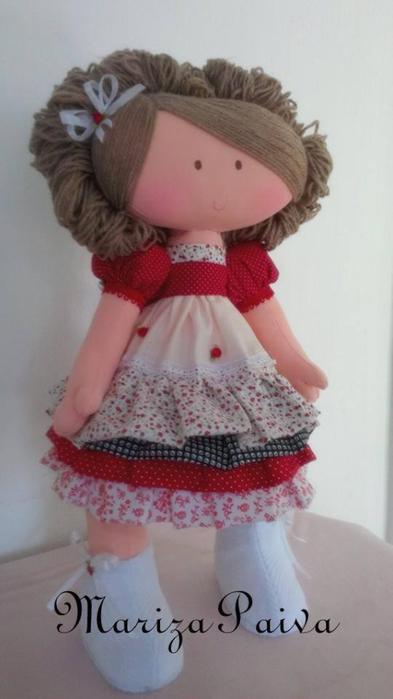 Красивая прическа с кудряшками для куклы. Мастер-класс (25) (393x700, 193Kb)