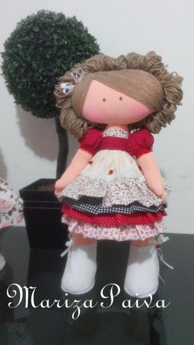 Кудрявая прическа для куклы. Мастер-класс в фотографиях (27) (393x700, 268Kb)